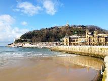 San Sebastian harbour, Basque country in Spain. stock photo
