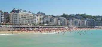 San Sebastian strand Royaltyfria Foton