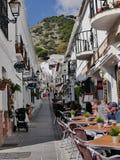 San Sebastian Street à Mijas un des villages blancs de ` du ` le plus beau de la région du sud de l'Espagne a appelé Andalousie photo libre de droits