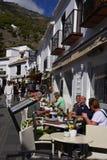 San Sebastian Street In Mijas dans les montagnes au-dessus de Costa del Sol en Espagne photos libres de droits