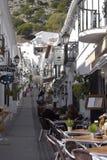 San Sebastian Street In Mijas en las montañas sobre Costa del Sol en España foto de archivo libre de regalías