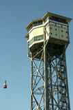 San Sebastian Tower. Funicular of Barcelona, Royalty Free Stock Photos