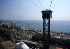San Sebastian Tower. Funicular of Barcelona. 