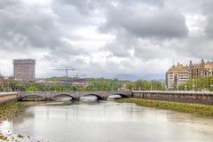San Sebastian. Urumea River Stock Photos