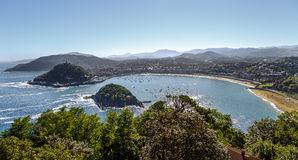 San Sebastian view from Mont Igueldo, Basque Country, Spain Stock Image