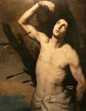 San Sebastiano, de heilige martelaar, olie op canvas Stock Foto's