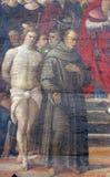 San Sebastiano e St Francis di Assisi Fotografie Stock