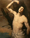 San sebastiano, the holy martyr, oil on canvas Stock Photos