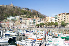 San Sebastians harbour royalty free stock photo