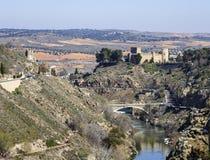 San Servando Castle in Toledo, Spanje Stock Foto's
