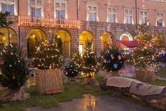 San Severino Marche en el tiempo de la Navidad Imagen de archivo