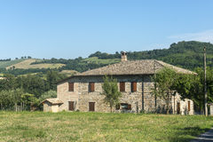 San Severino Marche (Włochy) Zdjęcia Stock