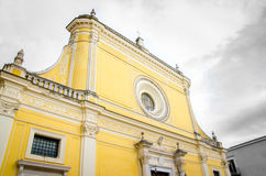 San Severo yellow cathedral church foggia province baroque archi Stock Photography