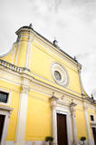 San Severo yellow cathedral church foggia province baroque archi Royalty Free Stock Images