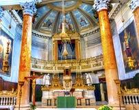 San Silvestro Church Altar Basilica Venice Itália Fotografia de Stock