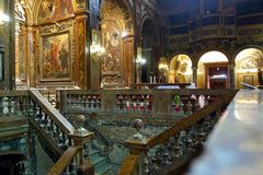 San Silvestro Church in Rome, Italy stock images