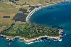 San Simeon aerial photo Royalty Free Stock Photo