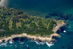 San Simeon aerial photo Royalty Free Stock Photos