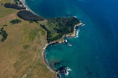 San Simeon aerial photo Stock Photography