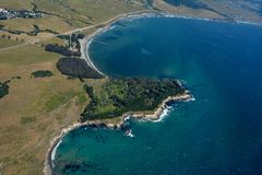 San Simeon aerial photo Royalty Free Stock Image