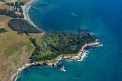 San Simeon aerial photo Royalty Free Stock Photos