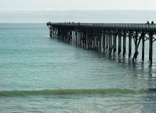 Pier at San Simeon Stock Image