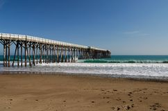 San Simeon Pier. William Randolph Hearst State Beach Stock Photography