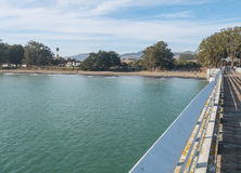 San Simeon from the pier Stock Photos