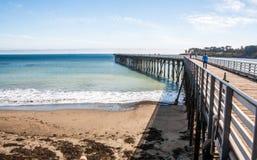 San Simeon Pier in California, U.S.A. Fotografie Stock Libere da Diritti