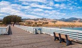 San Simeon Pier in California, U.S.A. Fotografia Stock Libera da Diritti