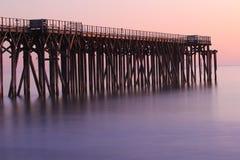 San Simeon Pier, près de château de Hearst, la Californie, Etats-Unis Photographie stock libre de droits