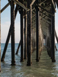 San Simeon Pier structure Stock Image