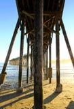 San Simeon pier with waves, near Hearst Castle, California, USA Royalty Free Stock Photos