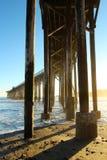 San Simeon pier with waves, near Hearst Castle, California, USA Stock Photo