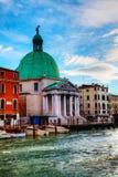 San Simeone Piccolo church in Venice Stock Images