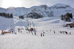 San Simone Ski Resort Lizenzfreies Stockbild