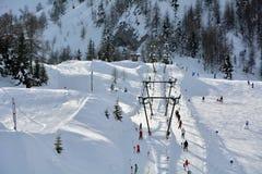 San Simone Ski Resort Lizenzfreie Stockfotos