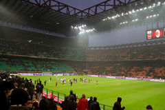 San Siro 2. A shot of San Siro stadium in Milan Italy stock photos