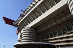 San Siro. E Giuseppe Meazza stadium in Milano, Italy. Football stadium in Milano, Italy stock photography
