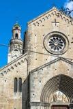 San Siro Cathedral en Sanremo, Italia imagen de archivo libre de regalías