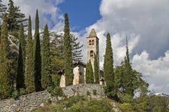 San Siro i Val Cavedine Royaltyfri Bild