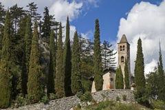 San Siro i Val Cavedine Arkivfoton