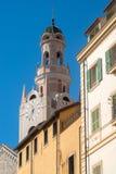 San Siro klockatorn Italien Liguria, Sanremo Arkivfoto