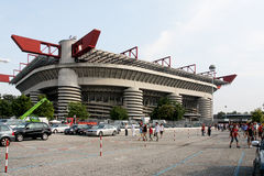 San Siro Milan Italy/Italia. Matchday at San Siro/Stadio Meazza in Milan Italy royalty free stock photography