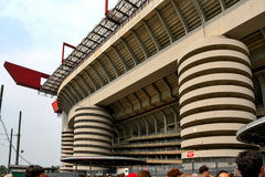 San Siro Milan Italy/Italia. Matchday at San Siro/Stadio Meazza in Milan Italy royalty free stock photos