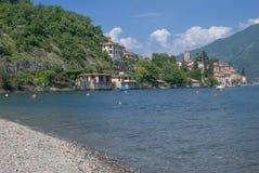 San Siro sjö Como, Italien Arkivbilder