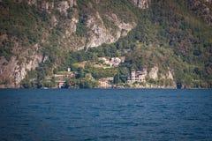 San Siro sjö Como, Italien Arkivfoton