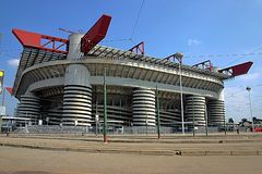 San Siro Stadium. In Milan, Italy royalty free stock photography
