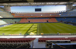 San Siro Stadium. The San Siro Stadium, home to both AC Milan and Inter Milan royalty free stock images