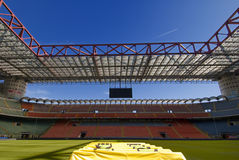 San Siro Stadium. The San Siro Stadium, home to both AC Milan and Inter Milan royalty free stock photography